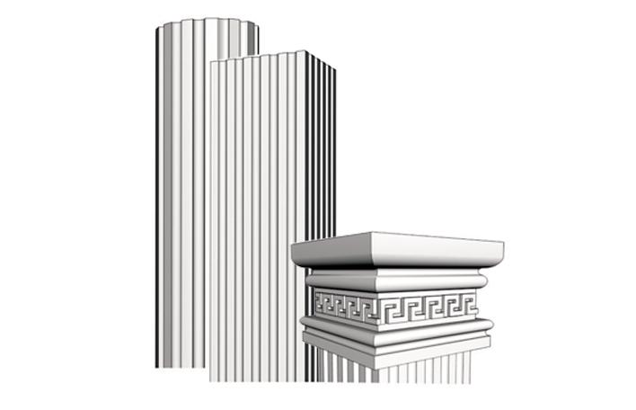 Colonne e capitelli newcoming polistirolo espanso for Riproduzioni design