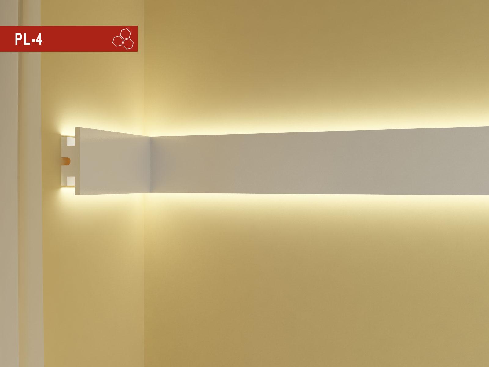 Profili led da parete in polistirolo per decorazione for Decorazioni in polistirolo per interni